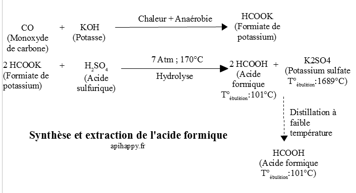 Exemple de synth232;se de l'acide formique